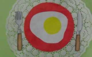 Логопедическая зарядка по теме: «Продукты питания. Посуда»