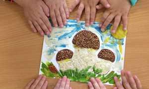 Аппликация из крупы и семян для детей: шаблоны, схемы выполнения