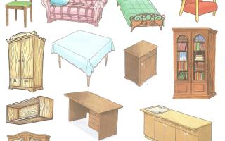 Домашние задания логопеда по лексической теме Мебель