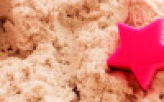 Живой песок для детей, что это такое, состав, как лепить