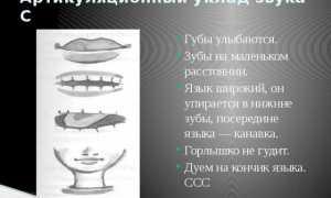 Логопедическое занятие по закреплению артикуляции звука (ц) для детей с ОНР 3 ур.